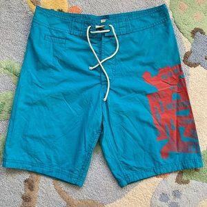 NWOT Burberry Brit logo swim trunks. Size M